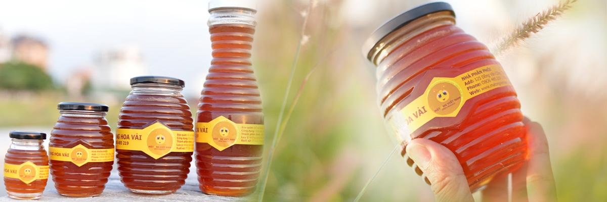 Mật ong hoa vải nguyên chất từ thiên nhiên