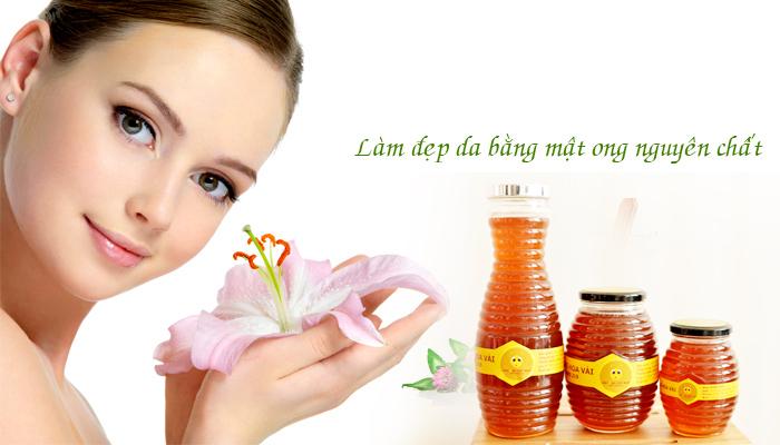 Da đẹp mịn màng với mật ong hoa vải