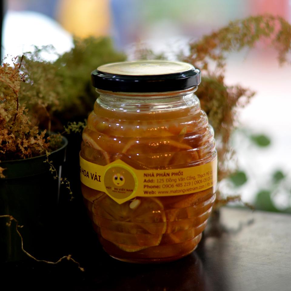 Chanh đào ngâm mật ong hũ 350ml