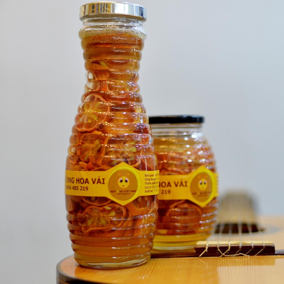 Chanh đào ngâm mật ong hũ 1000ml